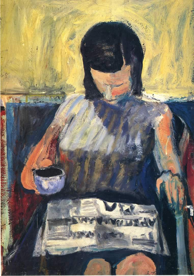 Woman With Newspaper