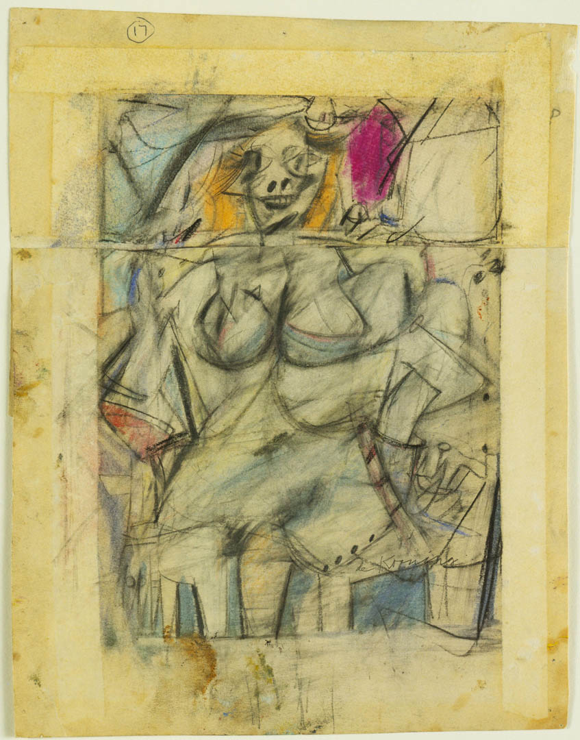 Seated Woman - A abstract expressionist willem de kooning art    Willem De Kooning Abstract Expressionist Paintings
