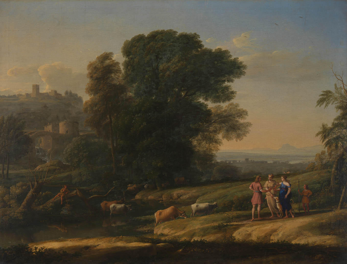 Claude Landscape With Cephalus And Procris Reunited By Diana