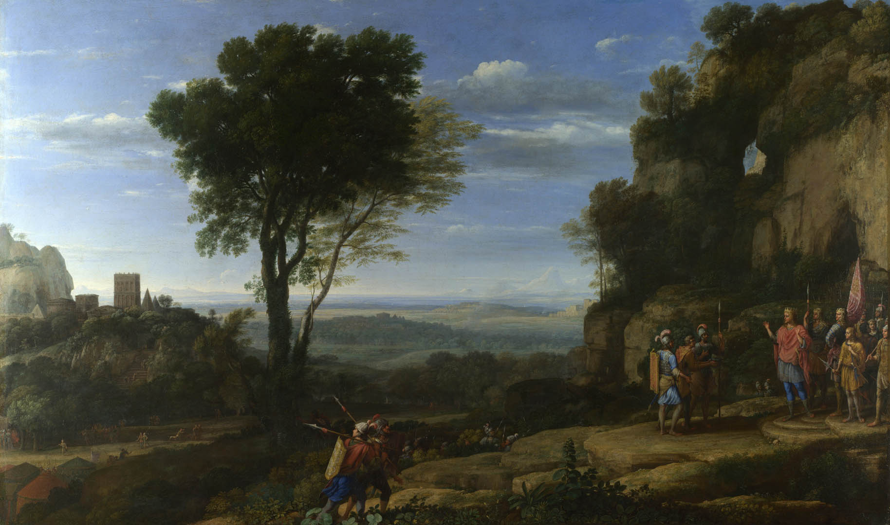 Claude Landscape With David At The Cave Of Adullam
