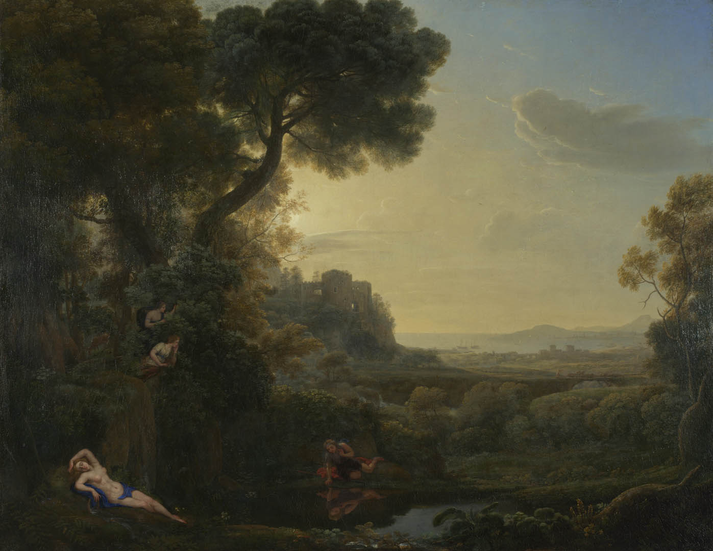 Claude Landscape With Narcissus And Echo