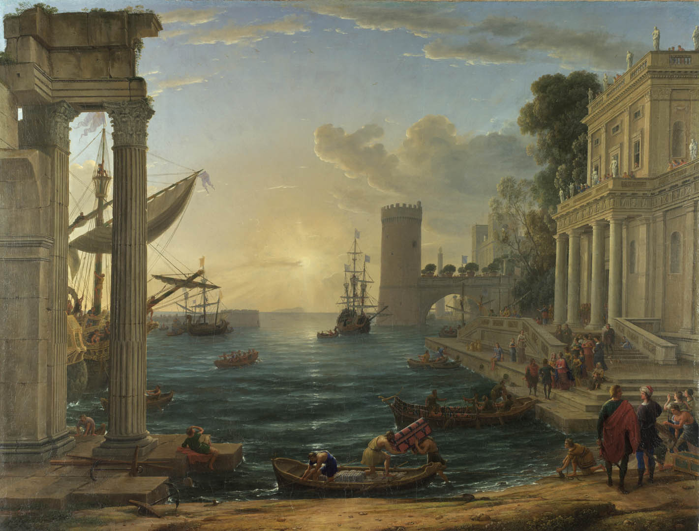 Claude Seaport With The Embarkation Of The Queen Of Sheba