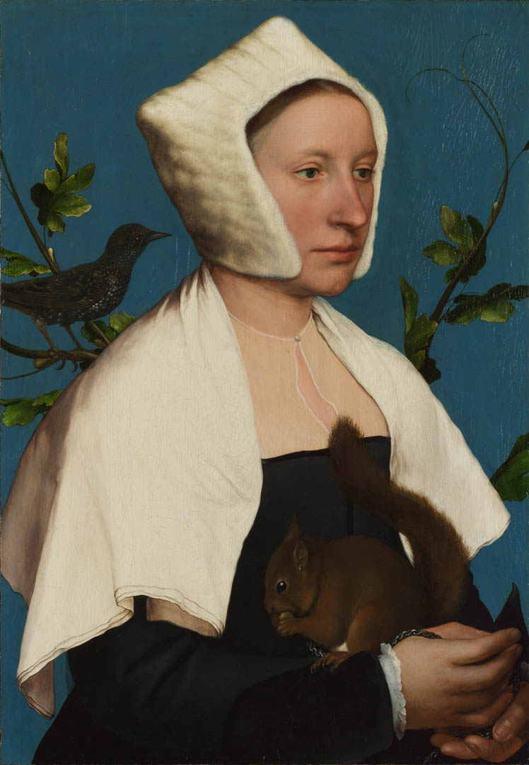 Hans Holbein The Younger A Lady With A Squirrel And A Starling Anne Lovell