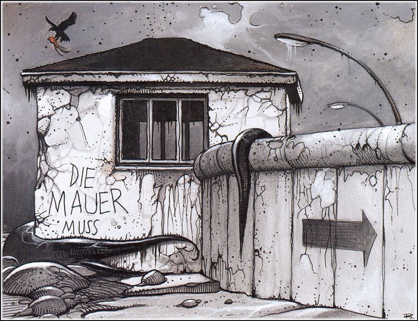 Berlin Wall A Illustration Enki Bilal Art Wallpaper