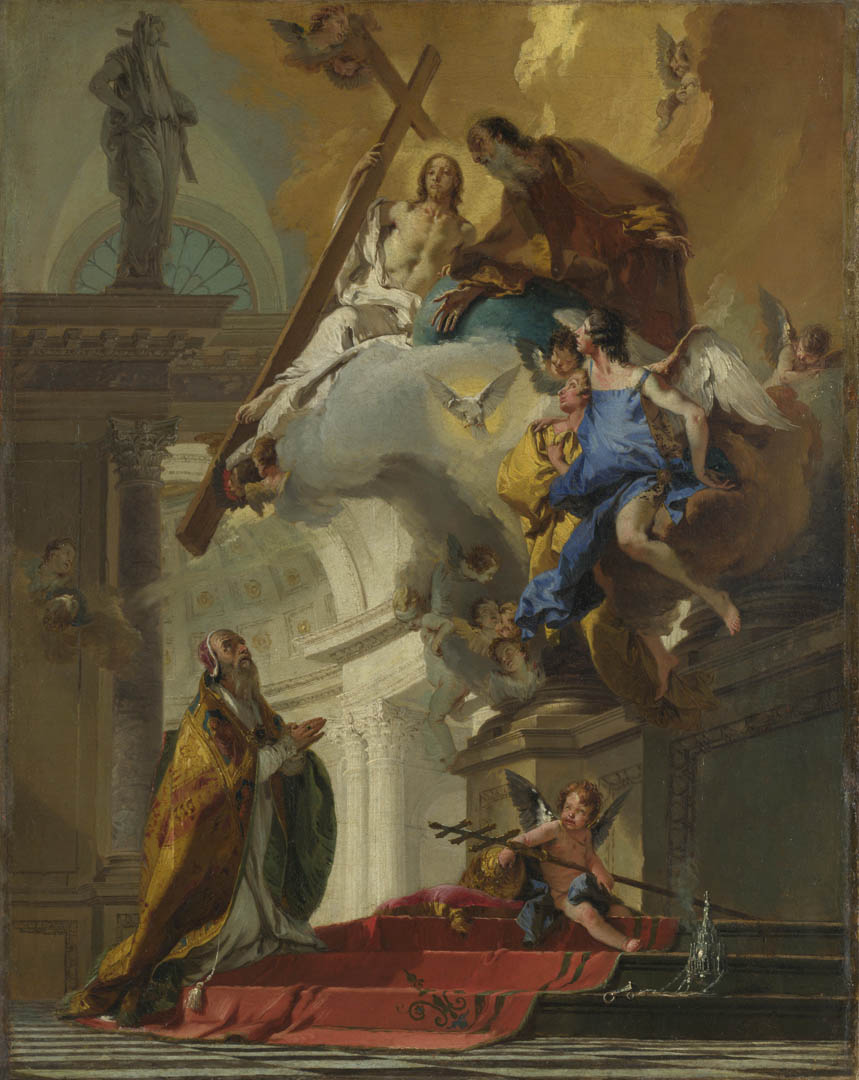 Vision Of The Trinity - A italian baroque giovanni battista tiepolo