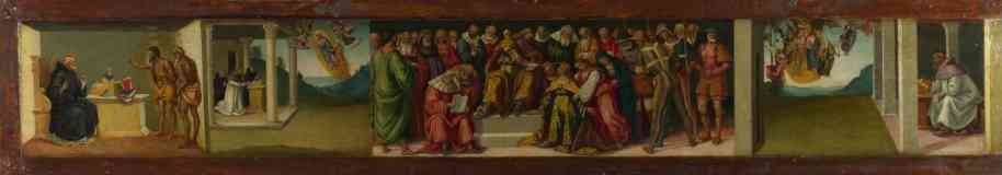 predella esther and life of saint jerome
