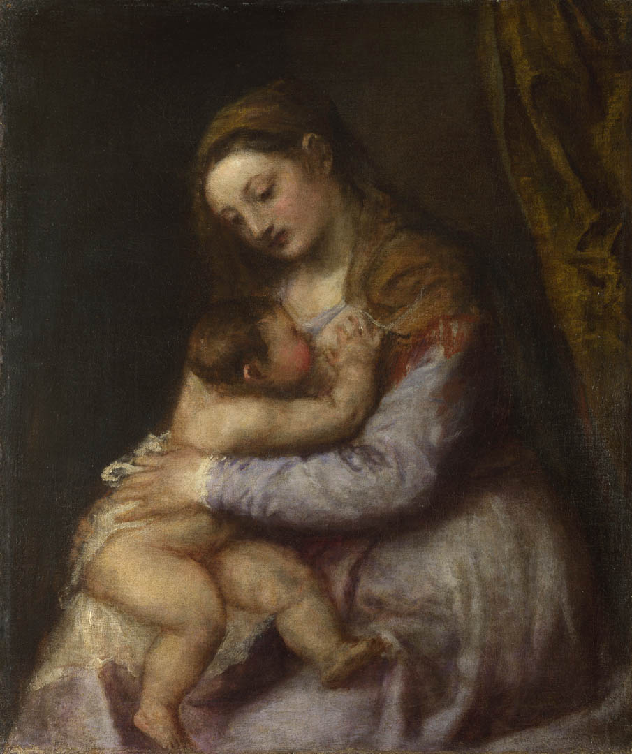 The Virgin Suckling The Infant Christ