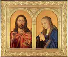 diptych christ and the virgin