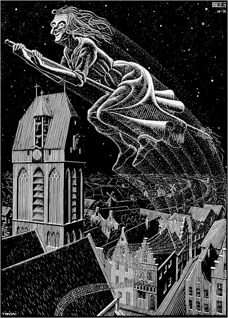 Scholastica illustration page 15 optical illusion m c for Mc escher gallery