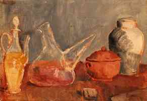 still life of vases