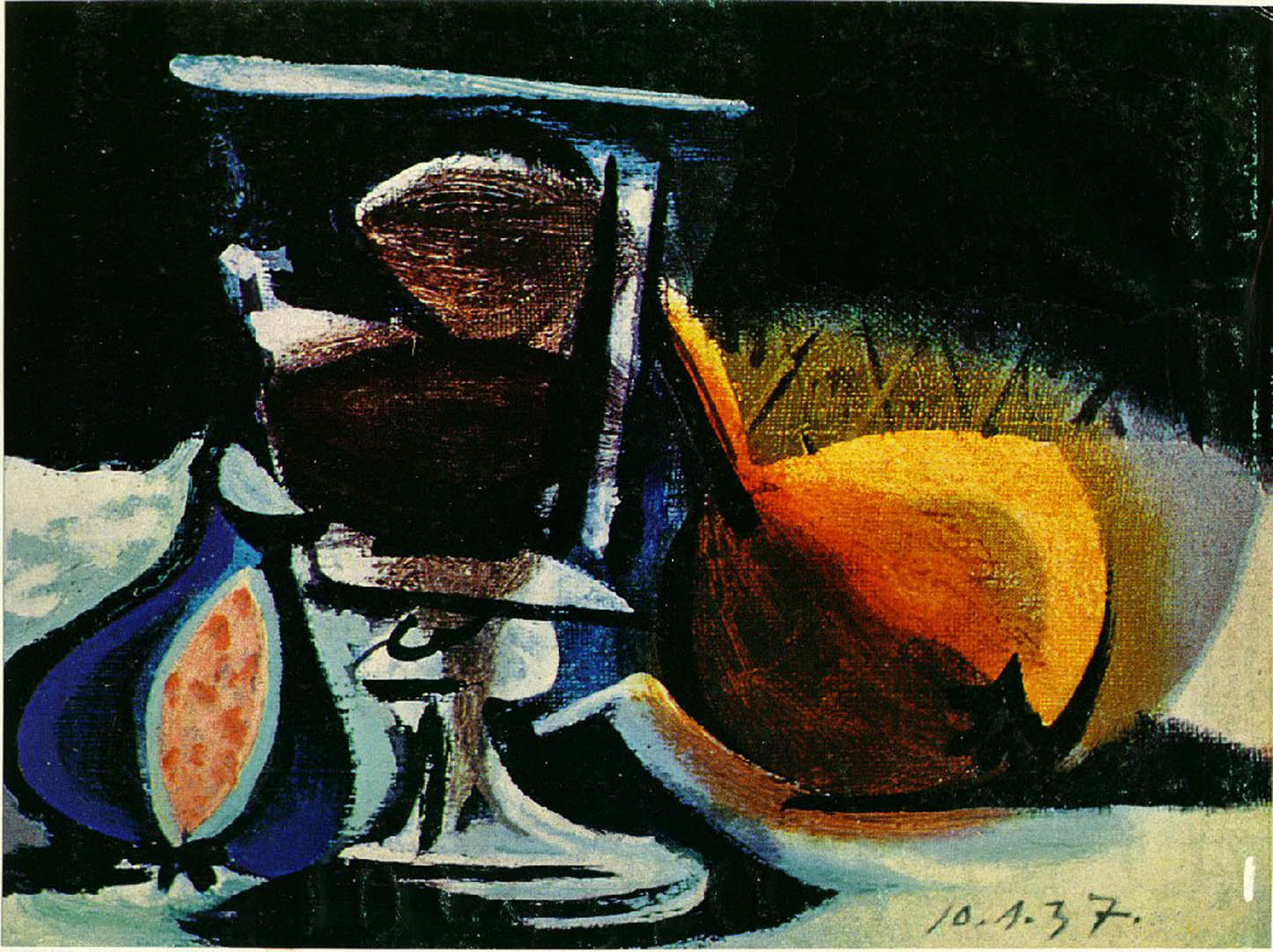 Still Life Of Fruit And Glass