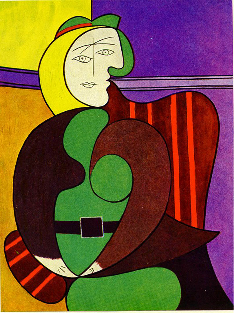 Woman Seated In A Red Armchair Picasso 1930s Art