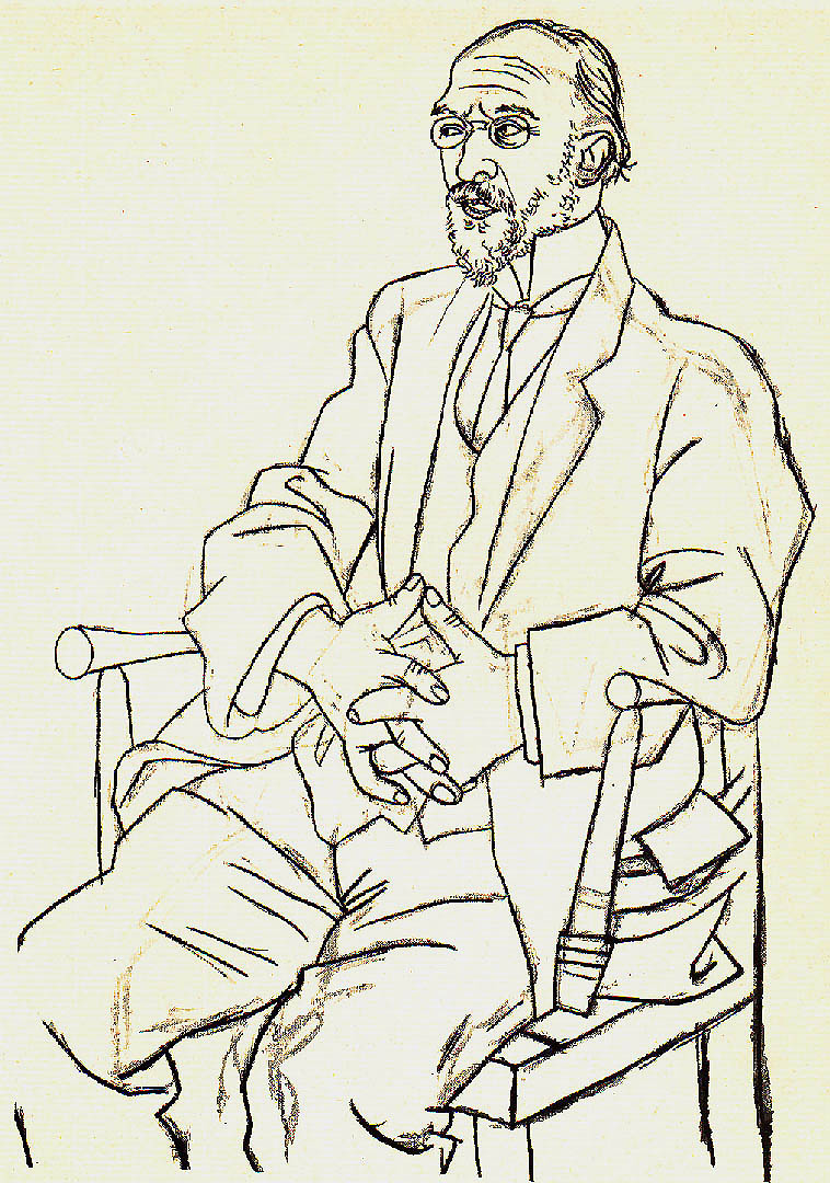 Drawings And Illustrations Portrait Of Erik Satie