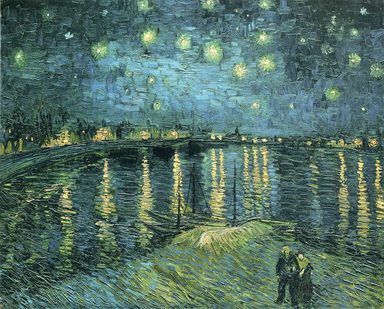 Van Gogh Starry Night Over The Rhone Wallpaper Vincent Van Gogh Starry Night