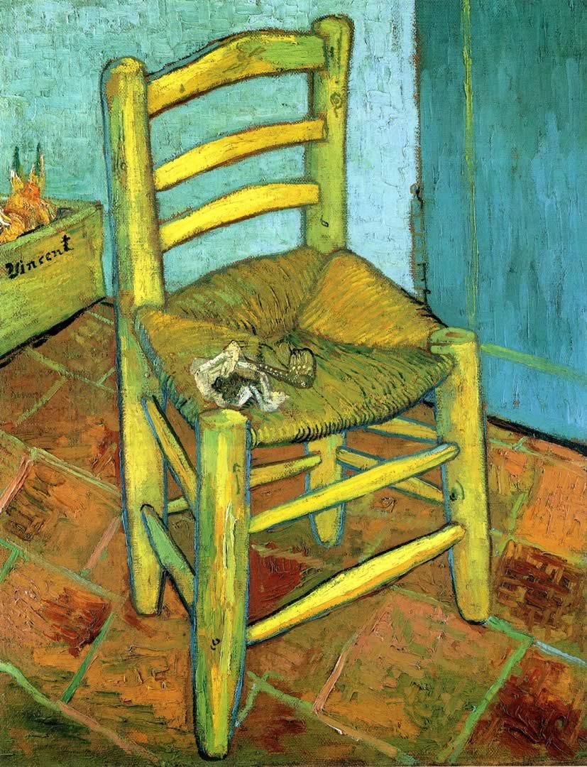 Van Goghs Chair - Post Impressionist Vincent Van Gogh Art ...