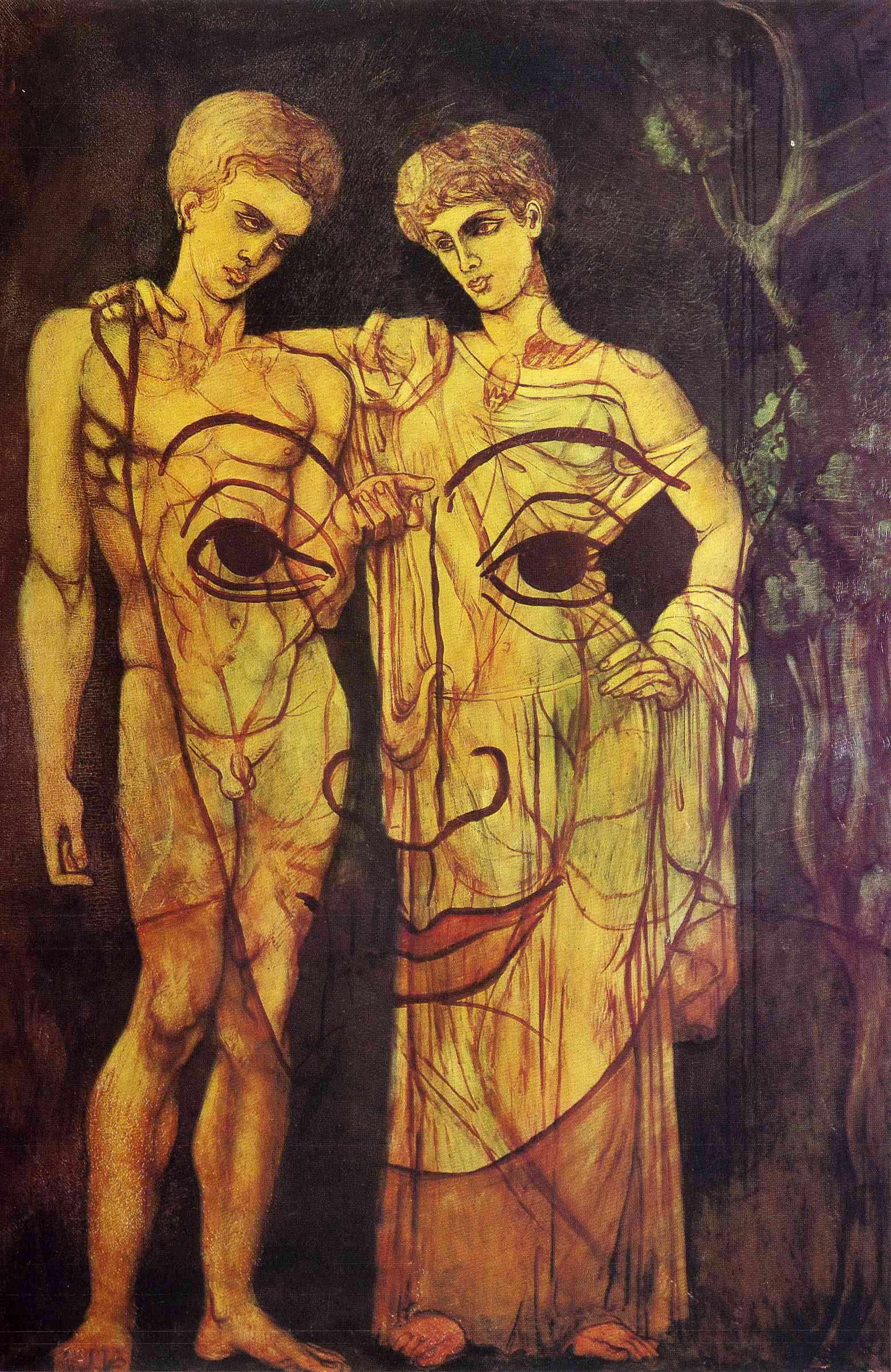 Adam And Eve And Face