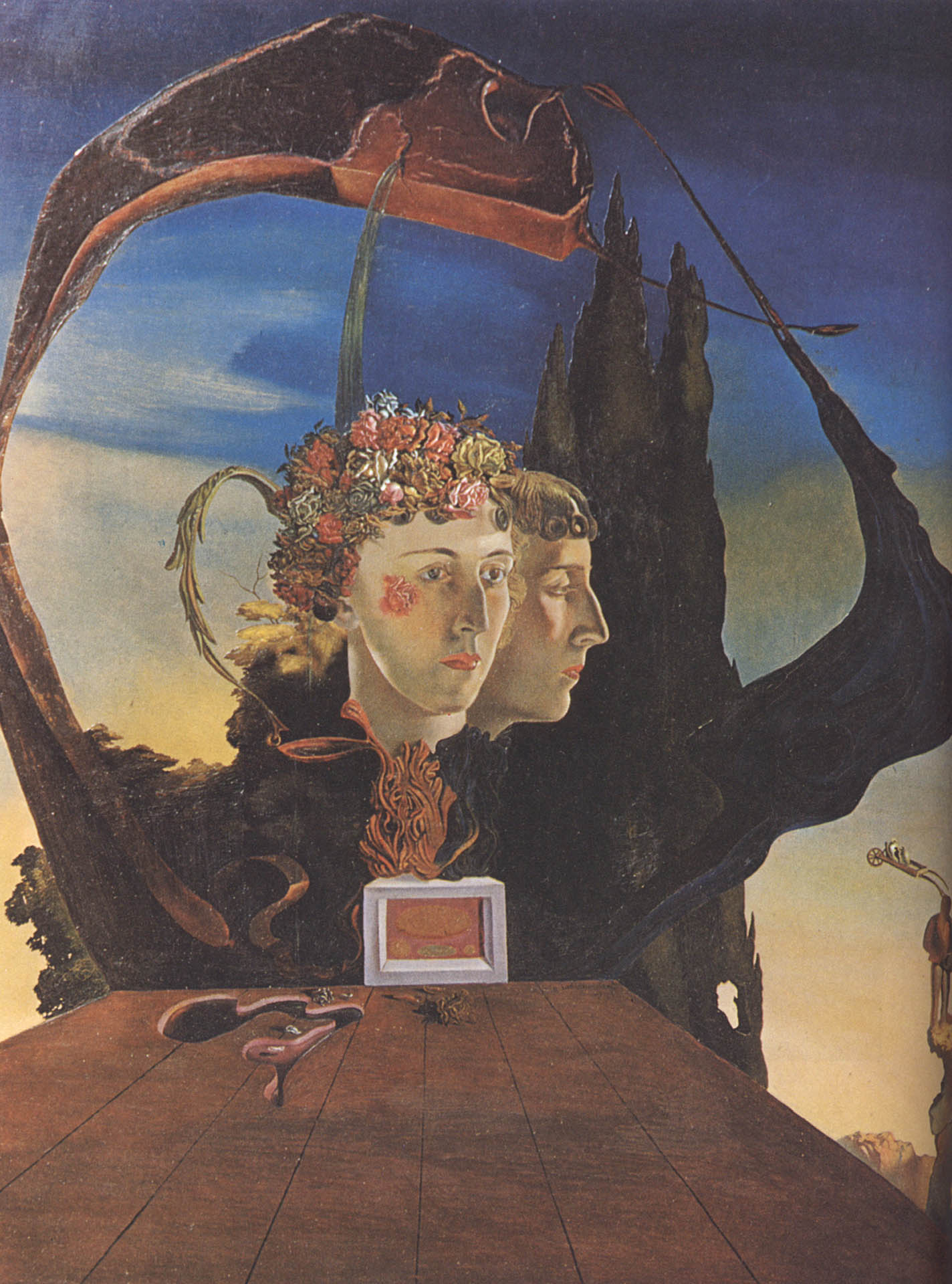Salvador Dali Portrait Of The Viscountess De Noailles Marie Laurie