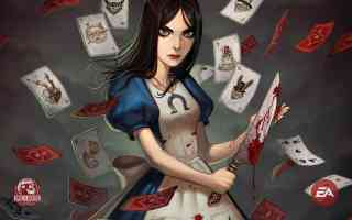 alice with bloody dagger and playing cards