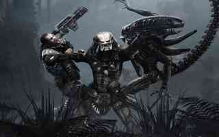 predator beating alien and marine