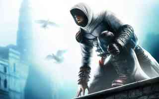 altair crouching on wall