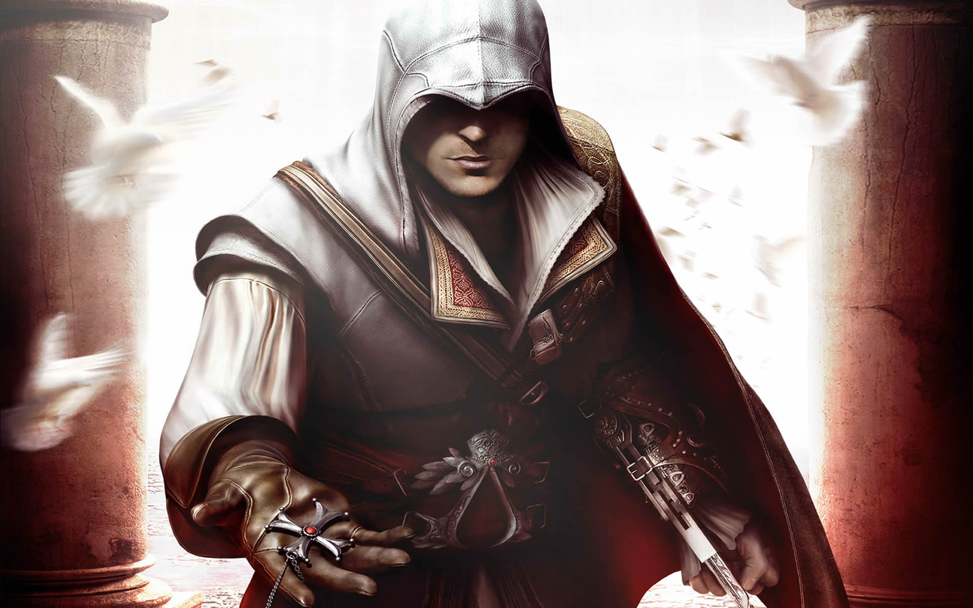 Altair Offering Cross - Assassins Creed 2 Wallpaper