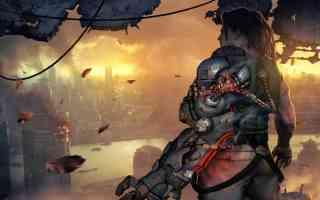 sci fi industrial cityscape