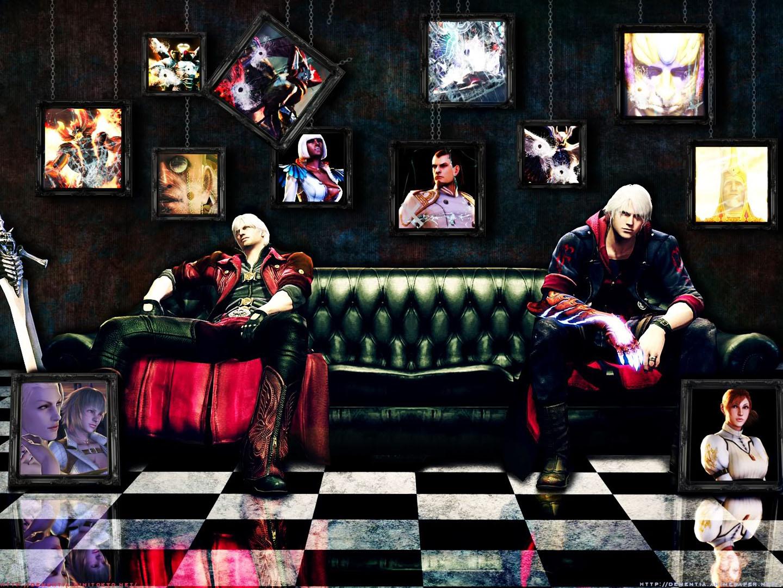 Dante And Nero On The Sofa