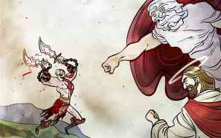 kratos attacking god and jesus