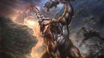 kratos attacking monster