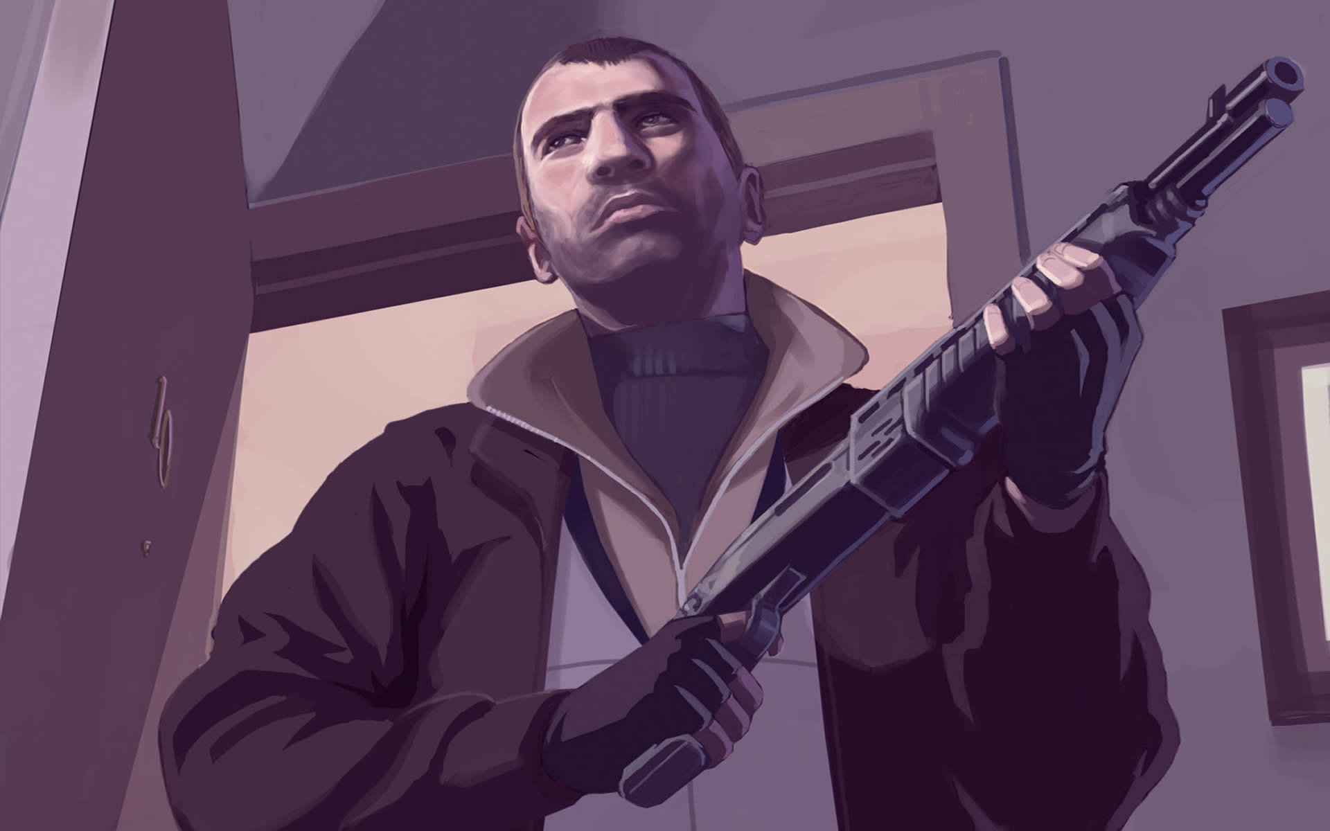 Niko Bellic With Shotgun