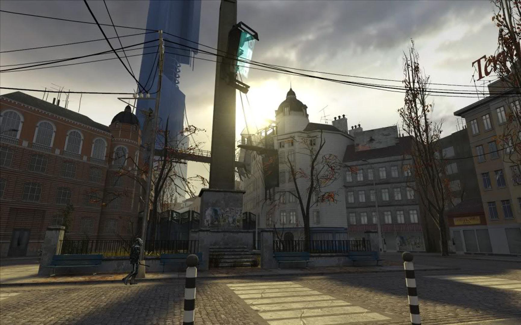 city 17 ghost town - half life 2 wallpaper