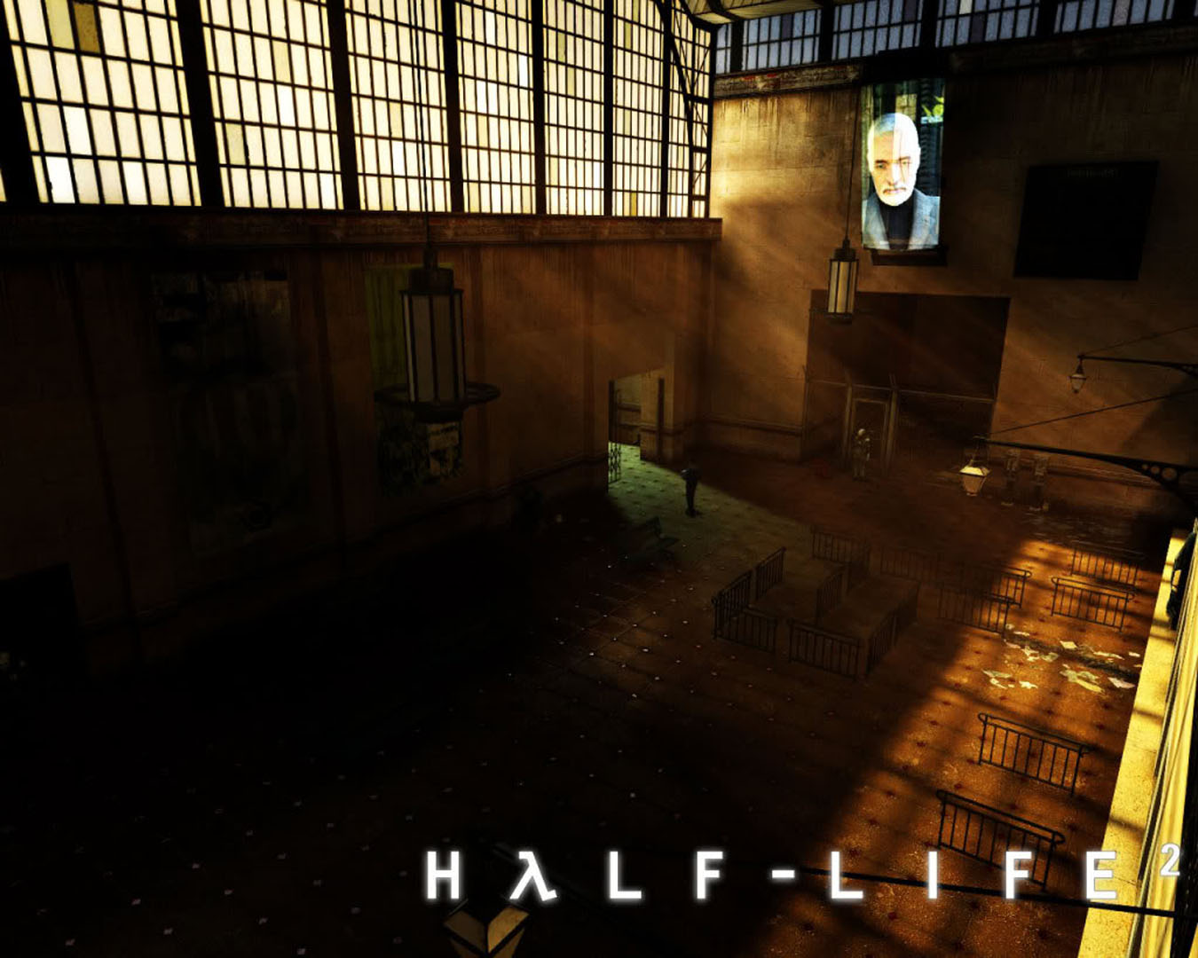 Foyer Wallpaper Game : Empty railway station foyer in city half life wallpaper
