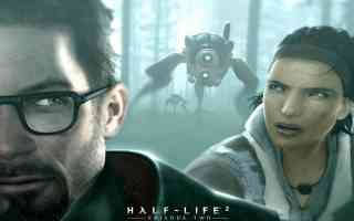 gordon freeman and alyx running from race x shock troopers