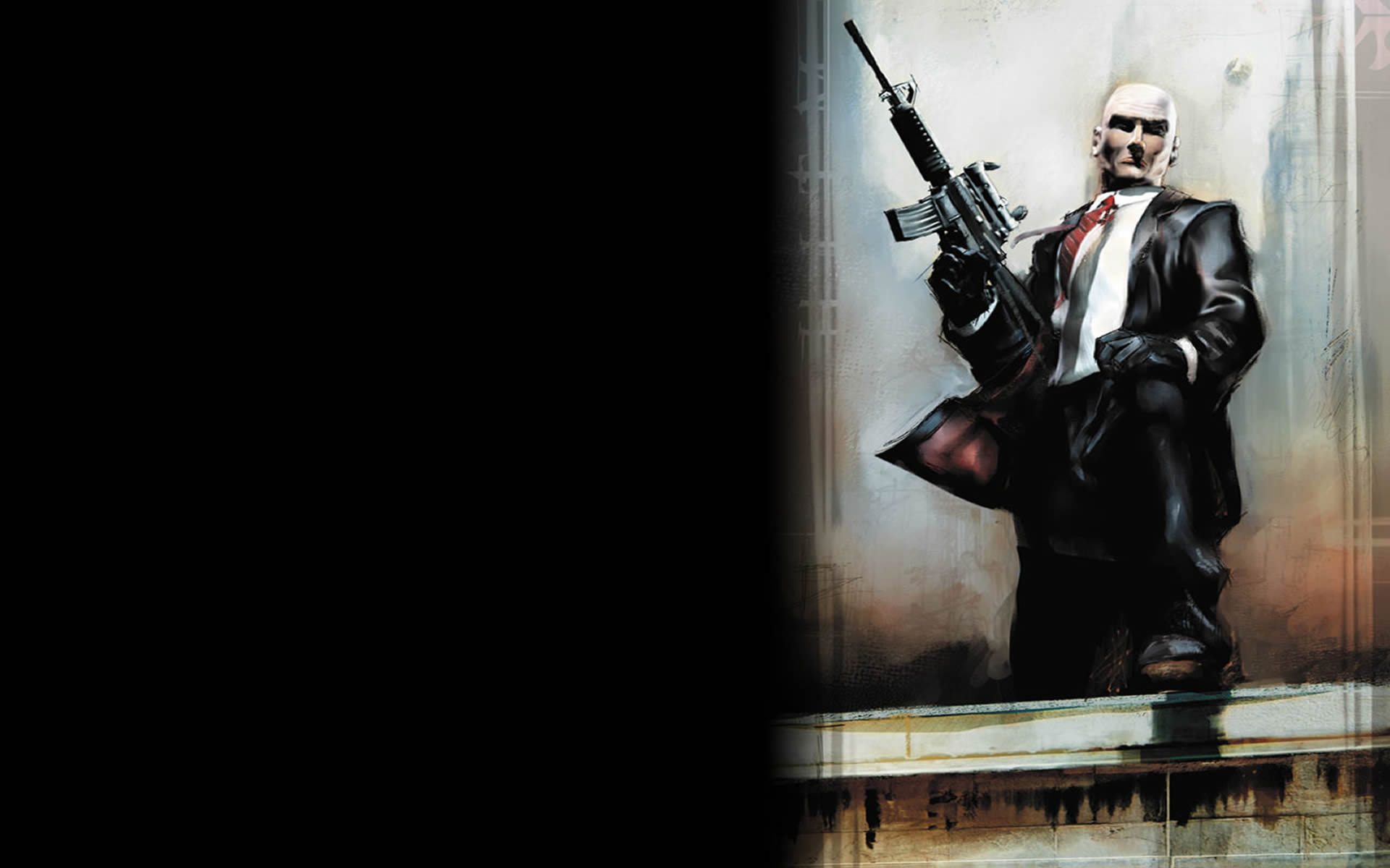 Agent 47 At Roof Ledge Hitman 2 Wallpaper