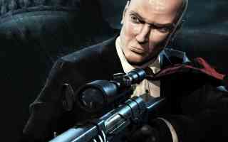 agent 47 with sniper rifle