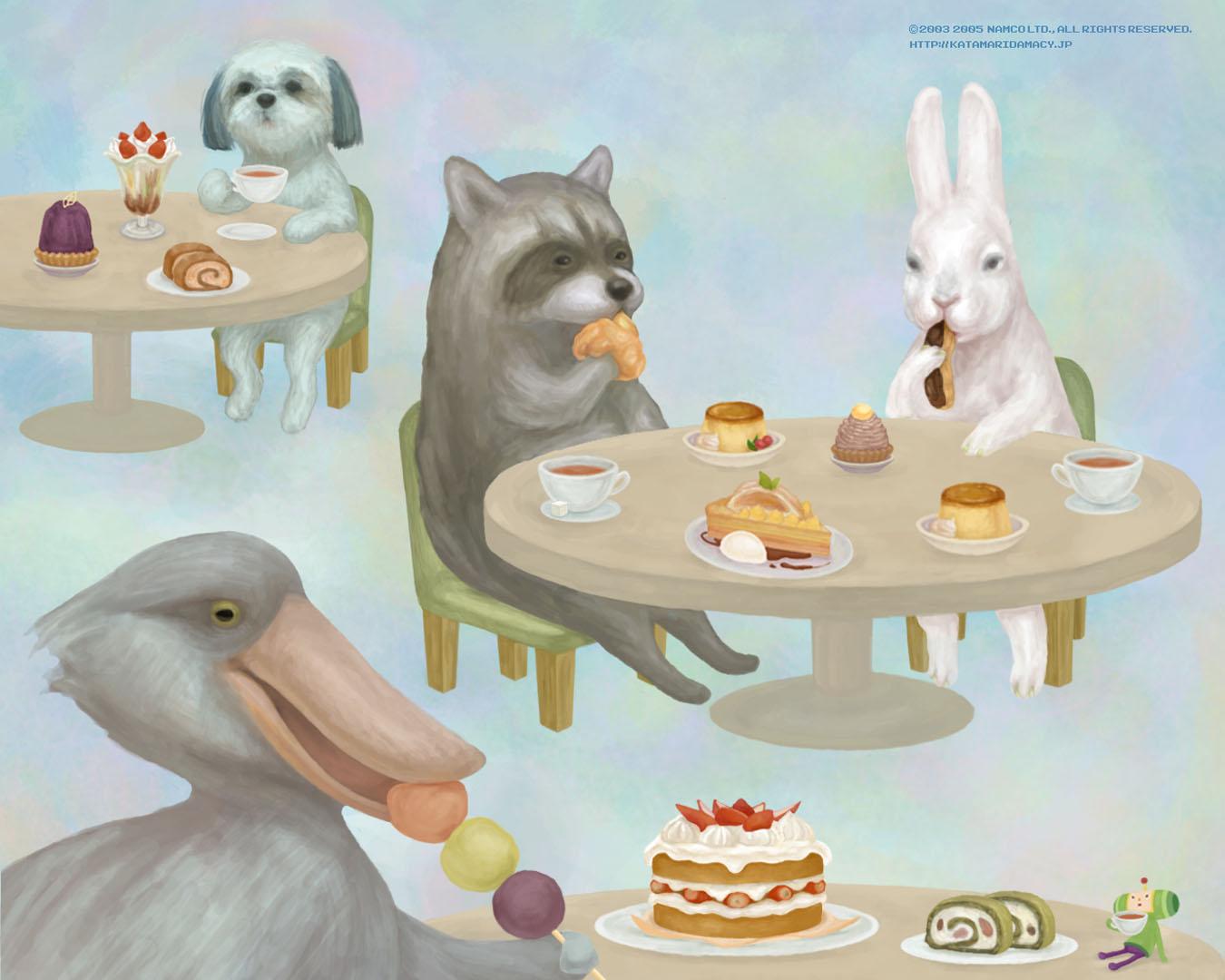 Animals Eating Cake
