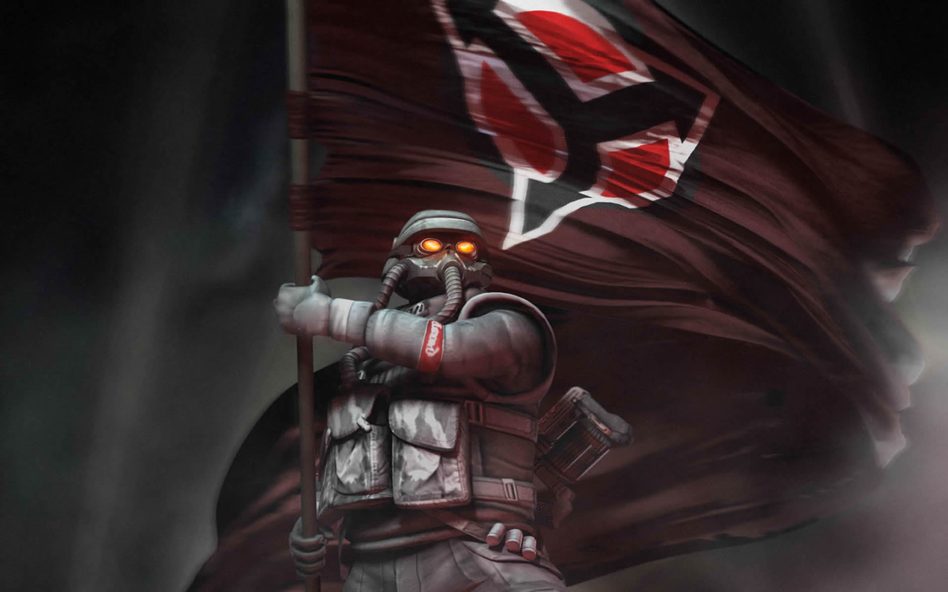 Helghast With Flag