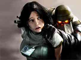 girl grabbed by helghast soldier