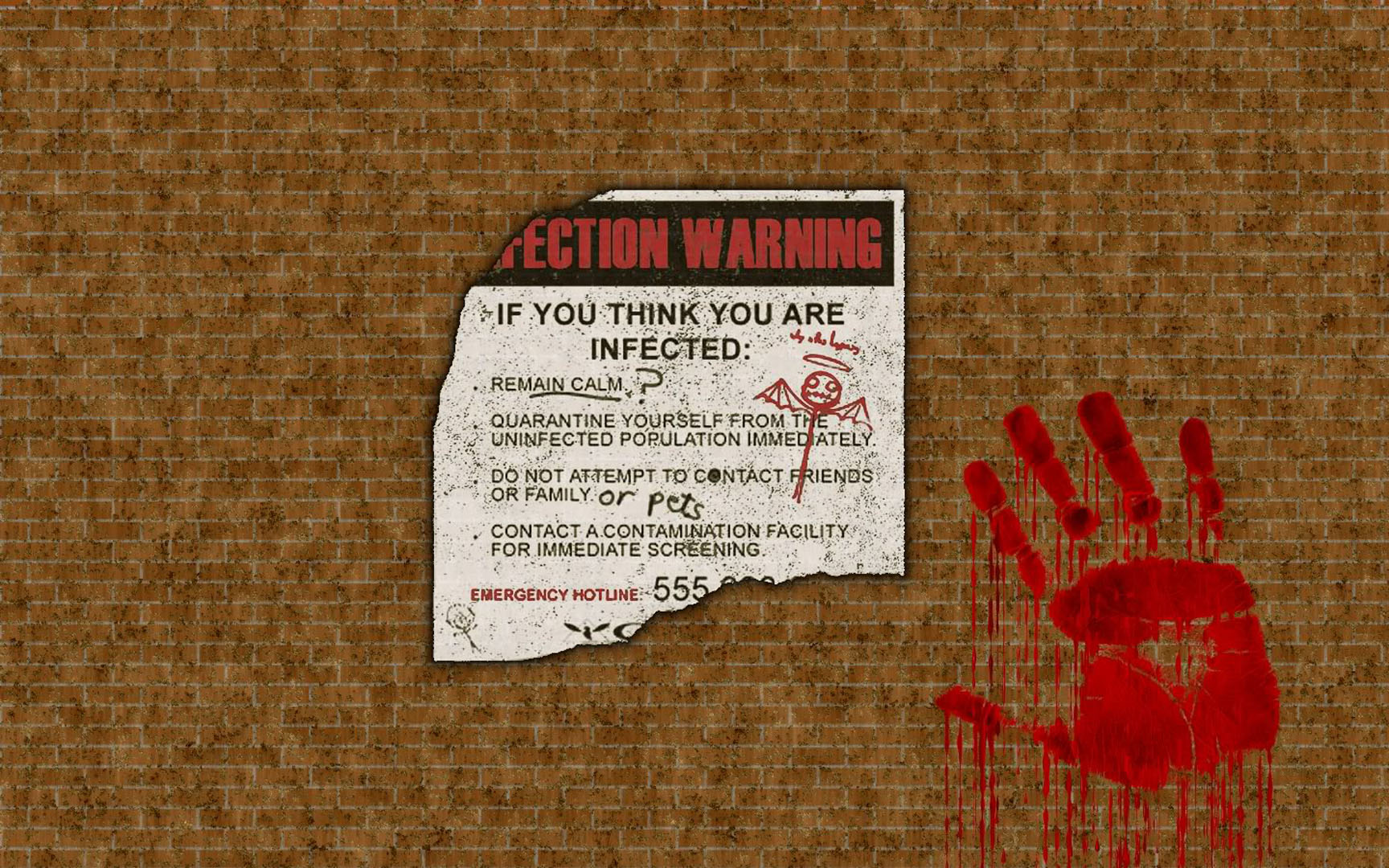 Infection Warning Poster