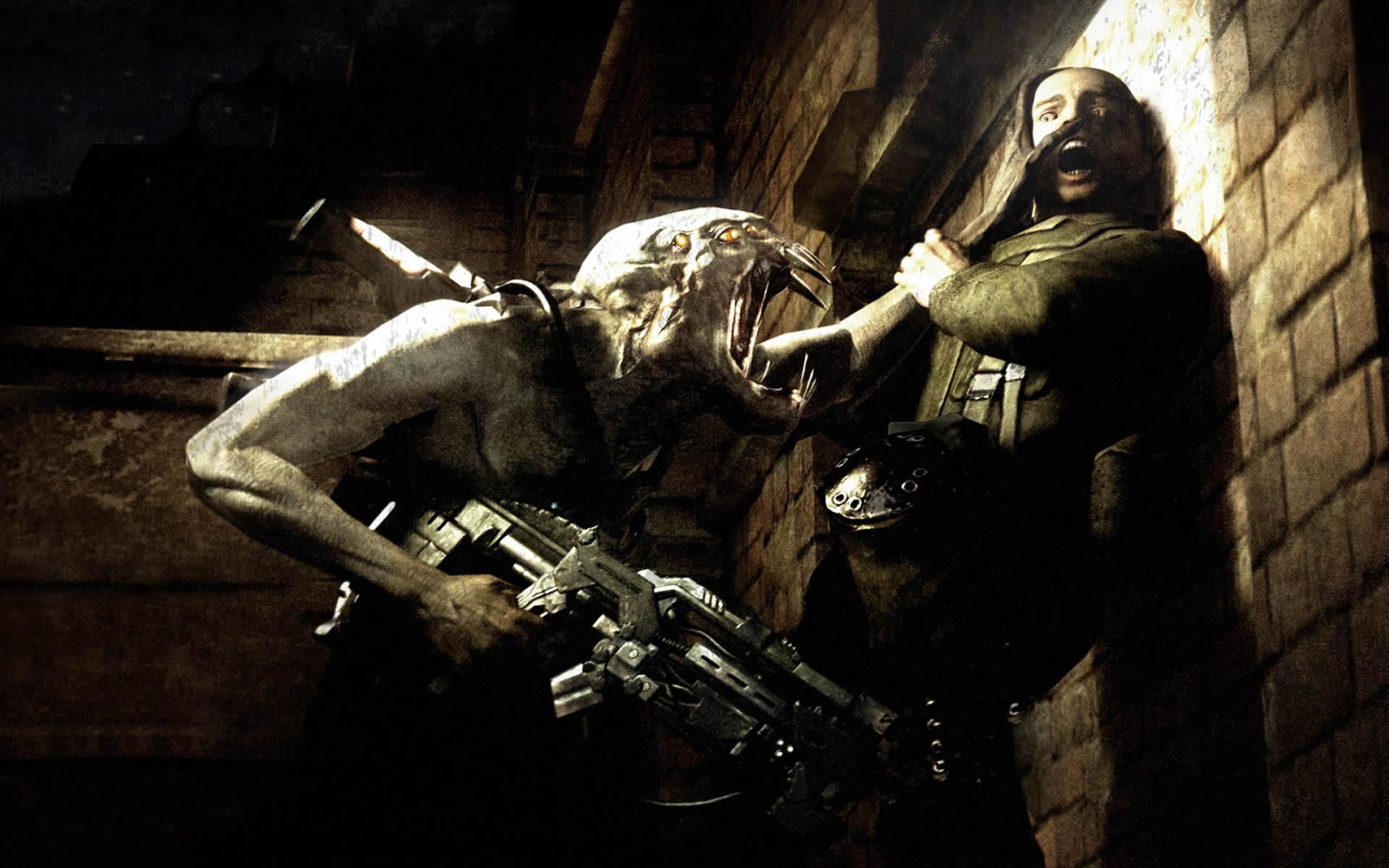 Chimeran Soldier Pins Man Against Wall