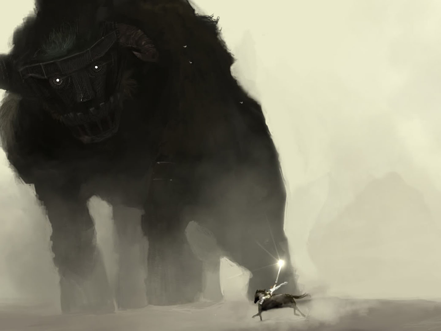 Enormous Colossus Walking In The Dust