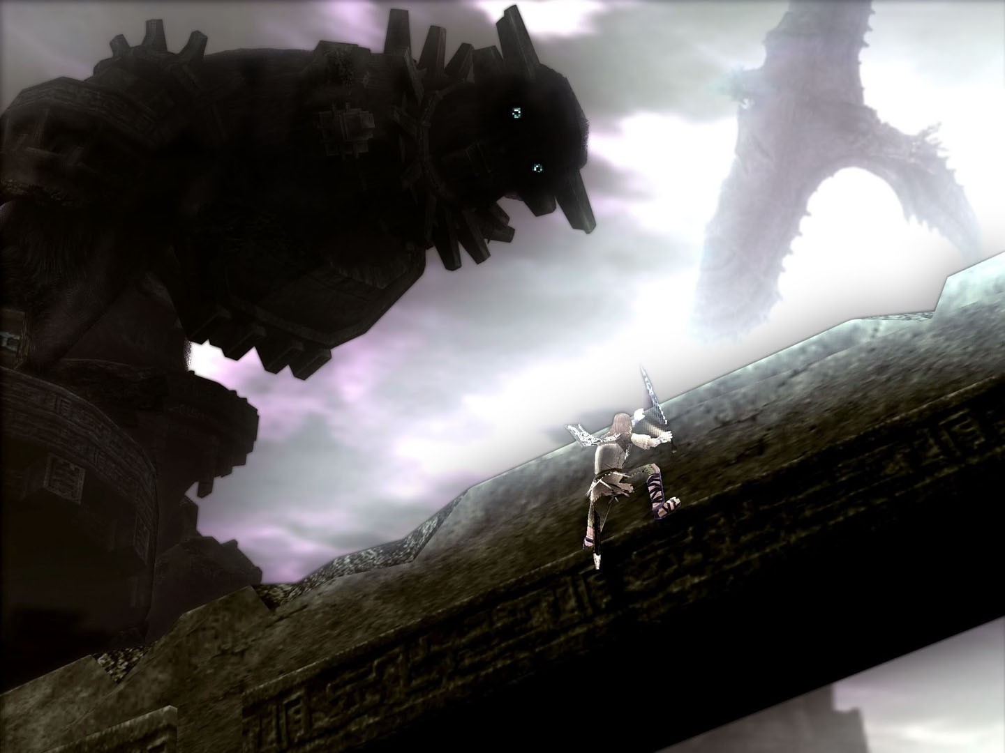 Wander Climbing Up The First Colossus Sword - Shadow Of ...