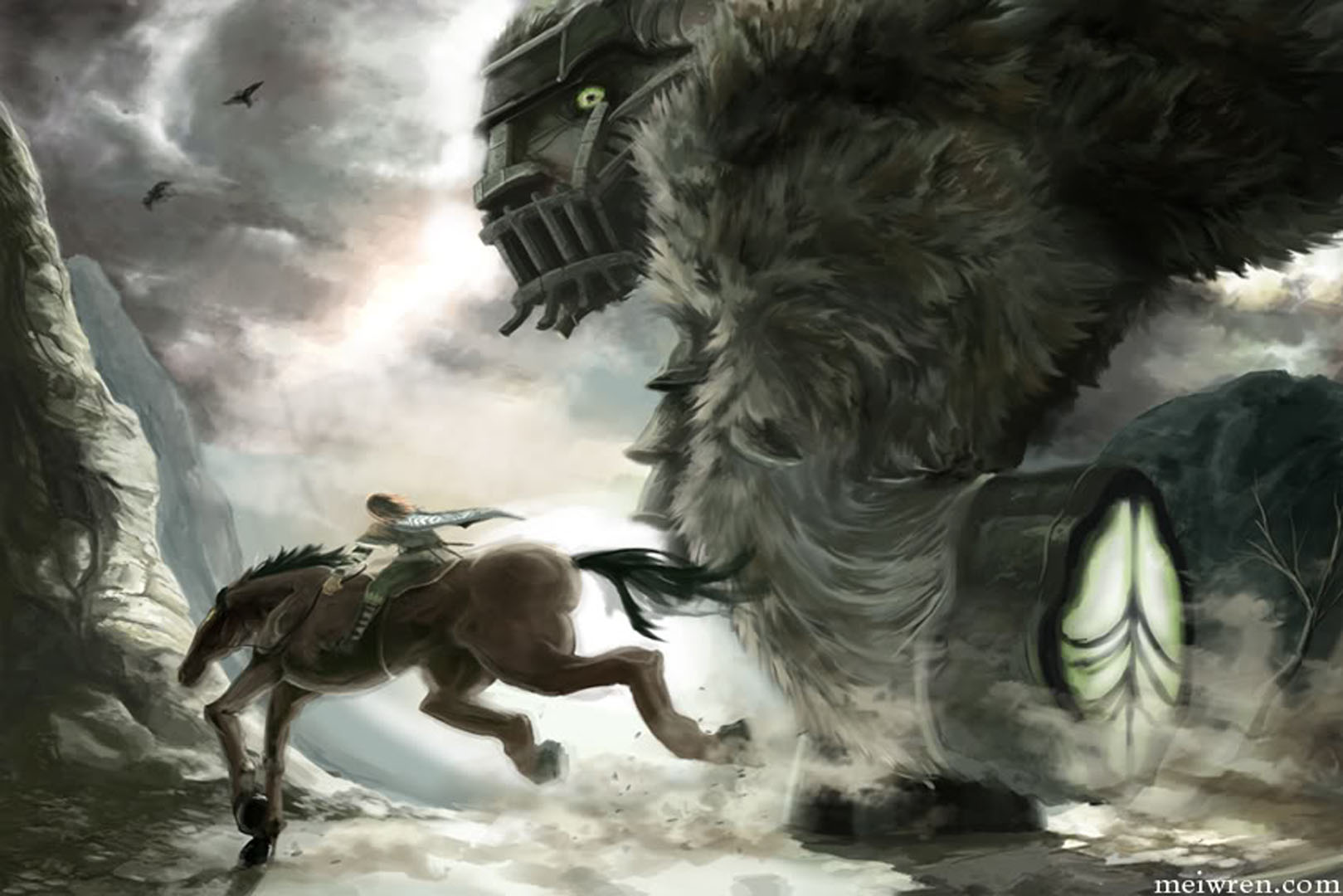 Shadow of The Colossus Wander And Agro Shadow of The Colossus Wander