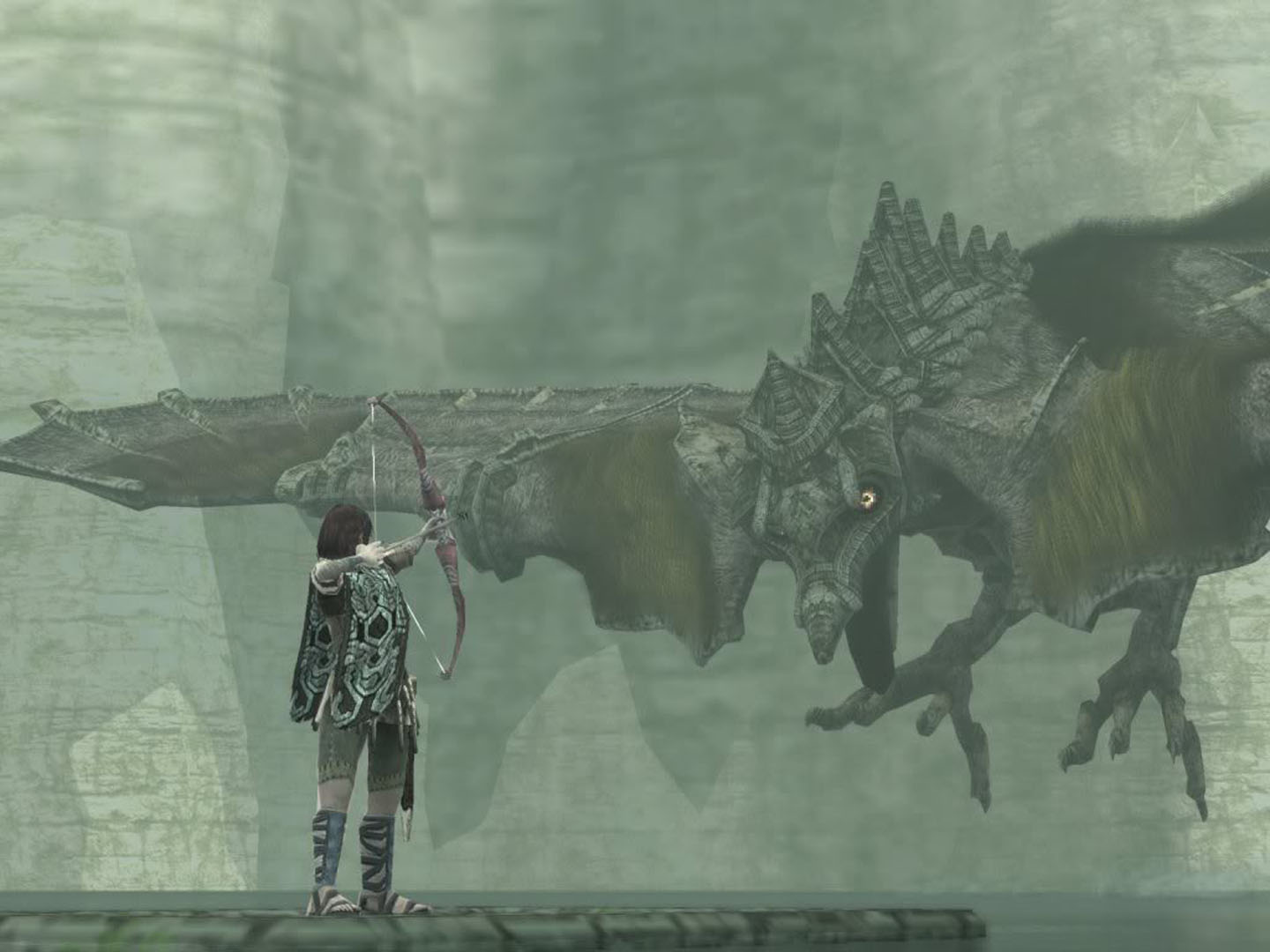 Wander Shooting Arrow At Flying Colossus - Shadow Of The ...