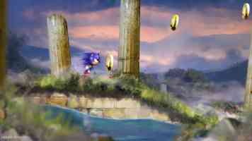 sonic in temple ruins