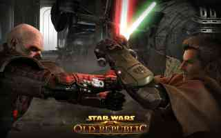sith and jedi in lightsaber fight
