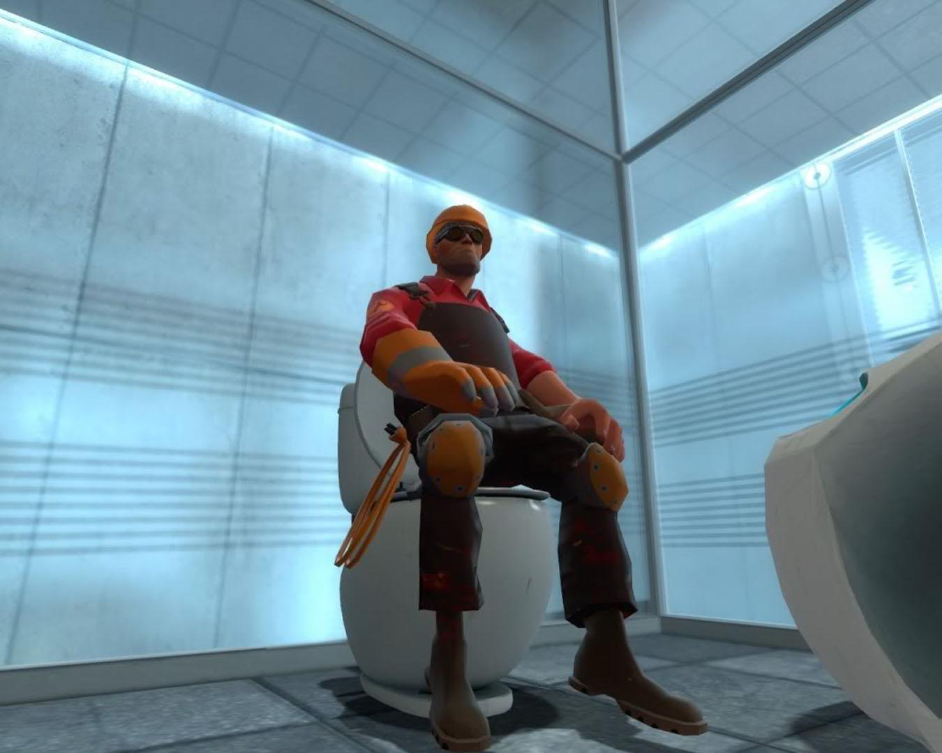 Engineer On The Toilet