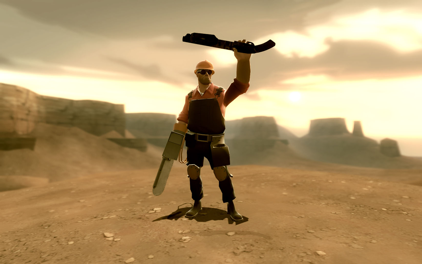 Engineer With Chainsaw - Team Fortress 2 Wallpaper