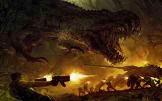 tyrannosaurus battle
