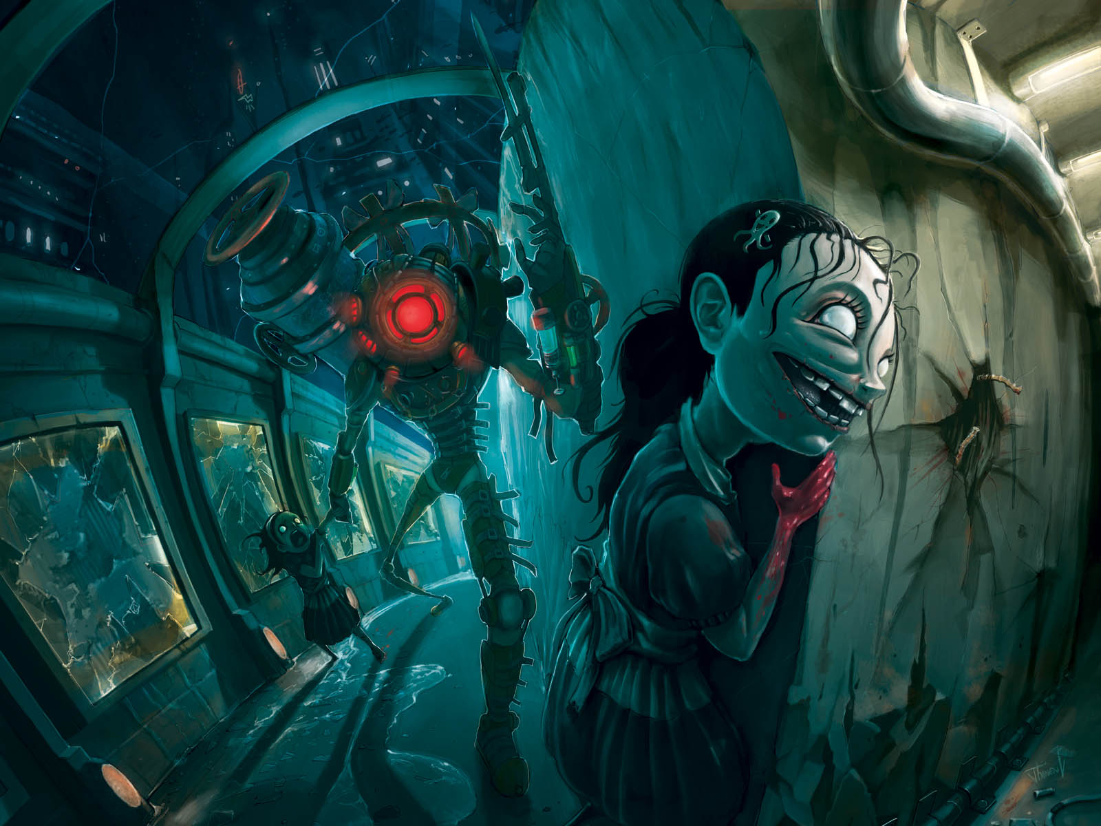 Previous Bioshock 2 Wallpaper Crazy Little Sister And Big